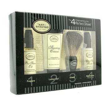 The Art Of Shaving Starter Kit - Unscented: Pre Shave Oil + Shaving Cream + Brush + After Shave Balm