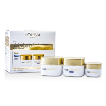 LOreal Age Perfect Programme: Day Cream + Eye Cream + Night Cream