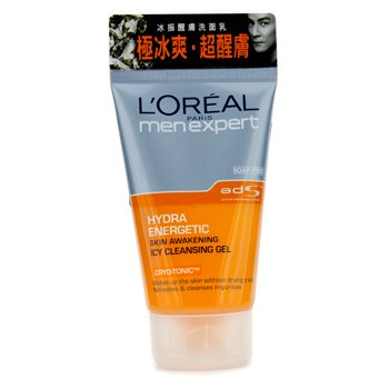 LOreal Men Expert Hydra Energetic Skin Awakening Icy Cleansing Gel