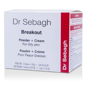 Dr. Sebagh Breakout Set (For Oily Skin): Cream 50ml +  5x Powder 1.95g