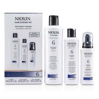 Nioxin System 6 Kit For Medium to Coarse & Normal to Thin-Looking Hair: Cleanser 300ml + Scalp Therapy 150m
