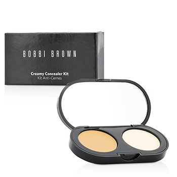 Bobbi Brown New Creamy Concealer Kit - Natural Tan Creamy Concealer + Pale Yellow Sheer Finish Pressed Powder