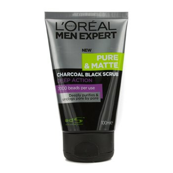 LOreal Men Expert Pure & Matte Charcoal Black Scrub