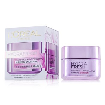 LOreal Hydrafresh Hydration+ Antiox Active Supreme Emulsion