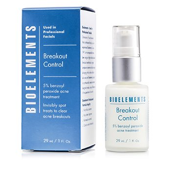 Bioelements Breakout Control - 5% Benzoyl Peroxide Acne Treatment (For Very Oily, OIly, Combination, Acne Skin Types)
