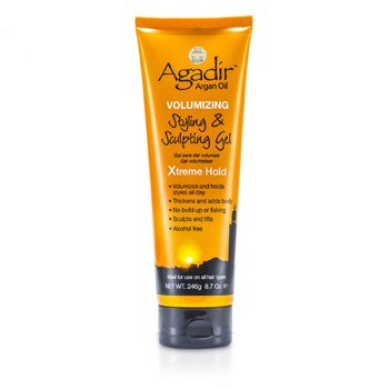 Agadir Argan Oil Volumizing Styling & Sculpting Gel - Xtreme Hold (For All Hair Types)