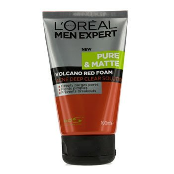 LOreal Men Expert Pure & Matte Volcano Red Foam (Tube)