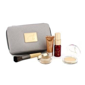 Jane Iredale Starter Kit (6 Pieces): 1xPrimer & Brighter, 1xLoose Mineral Powder, 1xMineral Foundation, ... - # Medium