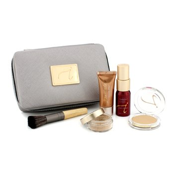 Jane Iredale Starter Kit (6 Pieces): 1xPrimer & Brighter, 1xLoose Mineral Powder, 1xMineral Foundation, ... - # Medium Dark