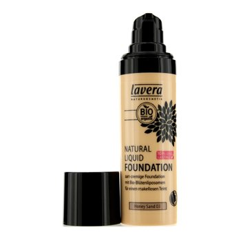 Lavera Natural Liquid Foundation (10H Long Lasting) - # 03 Honey Sand