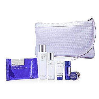 Shiseido Revital Set: Cleansing Foam I 20g+Lotion EX II 75ml+Moisturizer EX II 30ml+Lotion AA 20ml+Cream AAA 7ml+Eye Mask 1pair+Bag