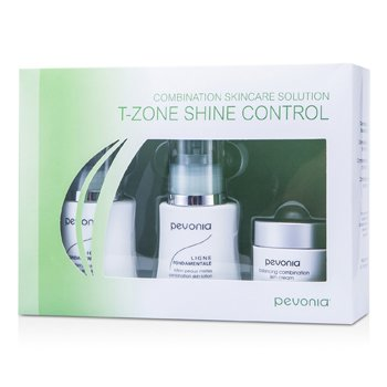 Pevonia Botanica Combination Skincare Solution - T-Zone Shine Control: Cleanser 50ml + Lotion 50ml + Cream20ml
