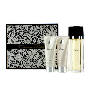Oscar De La Renta Oscar Coffret: Eau De Toilette Spray 100ml + Body Lotion 100ml + Body Bath Gel 100ml