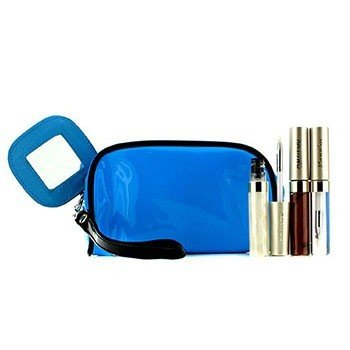 Kanebo Lip Gloss Set With Blue Cosmetic Bag (3xMode Gloss, 1xCosmetic Bag)