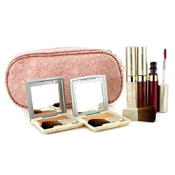 Kanebo Cheek & Lip Makeup Set With Pink Cosmetic Bag (2xCheek Color, 3xMode Gloss, 1xBrush, 1xCosmetic Bag)