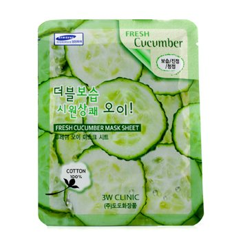 3W Clinic Mask Sheet - Fresh Cucumber