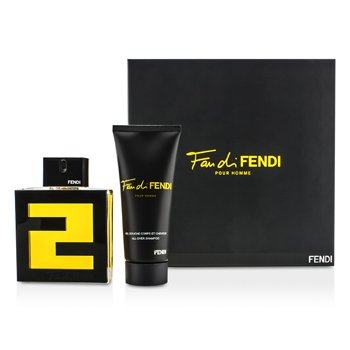 Fendi Fan Di Fendi Pour Homme Coffret: Eau De Toilette Spray 100ml + All Over Shampoo 100ml