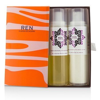 Ren Morococann Rose Duo: Body Wash 200ml + Body Lotion 200ml