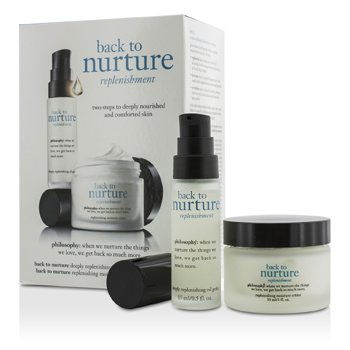 Philosophy Back To Nurture Set: 1x Deeply Replenishing Oil Gelee 15ml, 1x Replenishing Moisture Creme 30ml