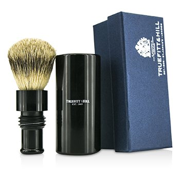 Truefitt & Hill Turnback Traveler Badger Hair Shave Brush - # Ebony