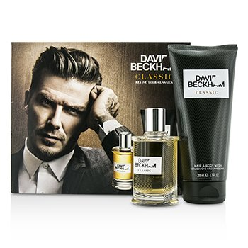 David Beckham Classic Coffret: After Shave Lotion 60ml + Hair & Body Wash 200ml