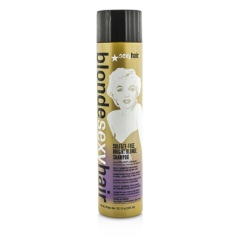 Sexy Hair Concepts Blonde Sexy Hair Sulfate-Free Bright Blonde Shampoo (For Blonde, Highlighted and Silver Hair)
