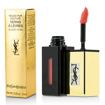 Yves Saint Laurent Rouge Pur Couture Vernis A Levres Pop Water Glossy Stain - #207 Juicy Peach