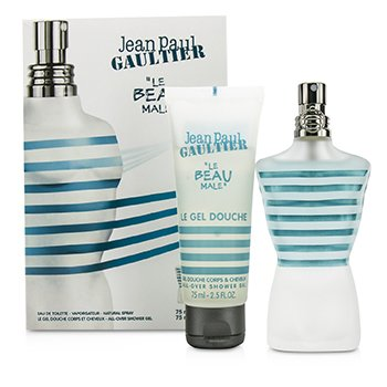 Jean Paul Gaultier Le Beau Male Coffret: Eau De Toilette Spray 75ml + Shower Gel 75ml