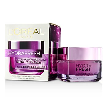 LOreal Hydrafresh Hydration+ Antiox Active Mask-In Jelly