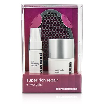 Dermalogica Super Rich Repair Limited Edition Set: Super Rich Repair 50ml + Skin Resurfacing Cleanser 30ml + Facial Cleansing Mitt