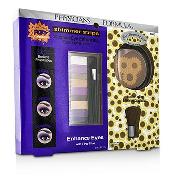 physicians Formula Makeup Set 8660: 1x Shimmer Strips Eye Enhancing Shadow, 1x Bontanical Bronzer, 1x Applicator