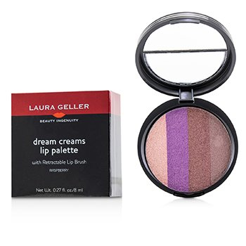 Laura Geller Dream Creams Lip Palette With Retractable Lip Brush - #Raspberry