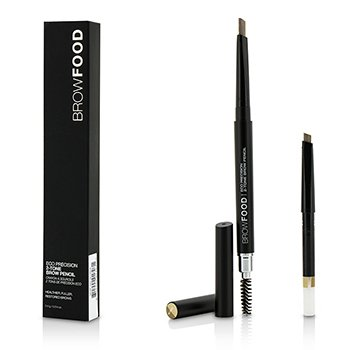 LashFood BrowFood Eco Precision 2 Tone Brow Pencil With Extra Refill - #Blonde