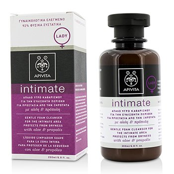 Apivita Intimate Gentle Foam Cleanser For The Intimate Area Protects From Dryness with Aloe & Propolis
