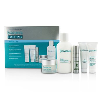 Exuviance Essentials Kit (Sensitive/ Dry): Cleansing Creme + Eye Complex + Day Creme + Restorative Creme + Antioxidant Serum