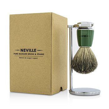 Neville Pure Badger Brush & Stand