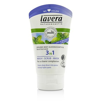 Lavera Organic Mint 3 In 1 Wash, Scrub, Mask