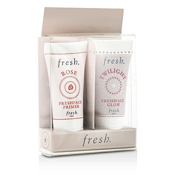 Fresh Prime & Glow Set: 1x Mini Rose Freshface Primer, 1x Mini Twilight Freshface Glow