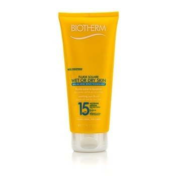 Biotherm Fluide Solaire Wet Or Dry Skin Melting Sun Fluid SPF 15 For Face & Body - Water Resistant