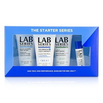 Aramis Lab Series The Starter Series : Multi-Action Face Wash 30ml + Face Lotion 30ml + Post Shave 30ml + Lip Balm 4.3g