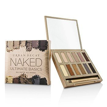 Naked Ultimate Basics Eyeshadow Palette: 12x Eyeshadow, 1x Doubled Ended Blending and Smudger Brush