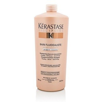 Kerastase Discipline Bain Fluidealiste Smooth-In-Motion Sulfate Free Shampoo - For Unruly, Over-Processed Hair