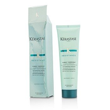 Kerastase Resistance Ciment Thermique Resurfacing Strengthening Milk Blow-Dry Care - For Damaged Hair (Box Slightly Damaged)