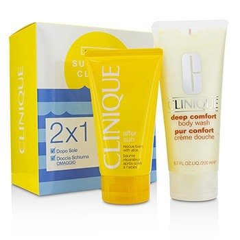Clinique Summer In Clinique Set: Deep Comfort Body Wash 200ml + After Sun Rescue Balm 150ml
