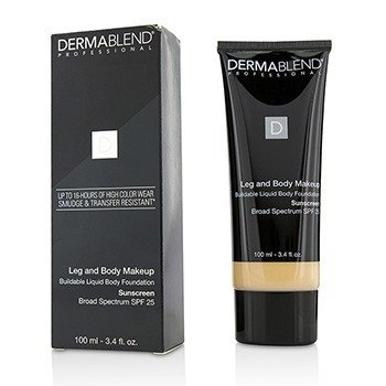 Dermablend Leg and Body Make Up Buildable Liquid Body Foundation Sunscreen Broad Spectrum SPF 25 - #Fair Ivory 10N