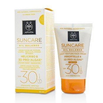 Apivita Suncare Oil Balance Light Texture Face Cream SPF 30 - Tinted