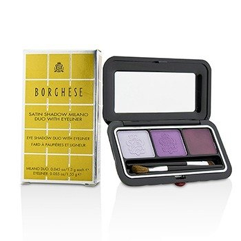 Borghese Eye Shadow Duo With Eyeliner - # 02 Venetian Violet
