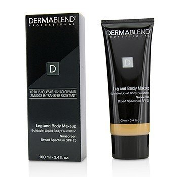 Dermablend Leg and Body Make Up Buildable Liquid Body Foundation Sunscreen Broad Spectrum SPF 25 - #Medium Natural 40N