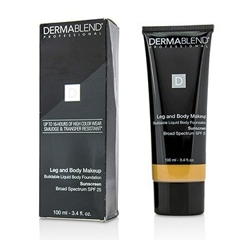 Dermablend Leg and Body Make Up Buildable Liquid Body Foundation Sunscreen Broad Spectrum SPF 25 - #Medium Golden 40W