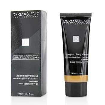 Dermablend Leg and Body Make Up Buildable Liquid Body Foundation Sunscreen Broad Spectrum SPF 25 - #Medium Bronze 45N